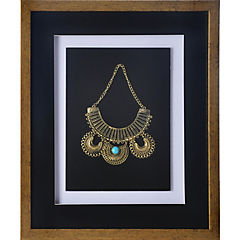 Cuadro joya dorado turquesa 37,5x44,5x3 cm