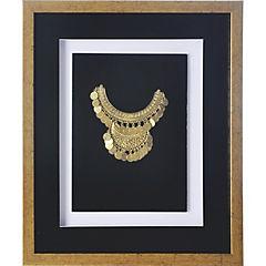 Cuadro joya dorado marco dorado 37,5x44,5x3 cm