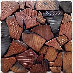 Panel mosaico madera 30x30x1,5 cm ñire