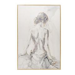 Cuadro en tela con diseño de torso de mujer