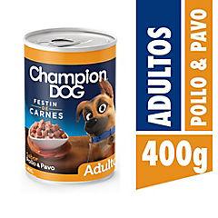 Alimento húmedo festín de pollo & pavo 400 gr