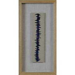Cuadro composición piedra azules 30x60 cm