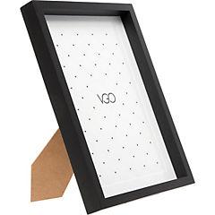 Marco madera box negro 15x20 cm
