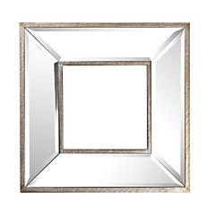 Espejo con marco de espejo plateado envejecido casanido - Espejos con marco plateado ...