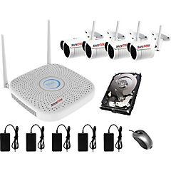 Kit 4 cámaras seguridad wifi