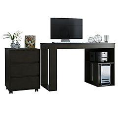 Set escritorio + cajonera wengue