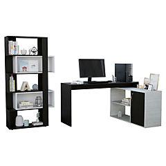 Set escritorio + estante wengue