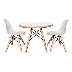 Set mesa + 2 sillas de niño blanco
