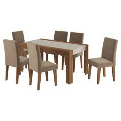 DECOCASA - Juego de comedor 6 sillas 160x90