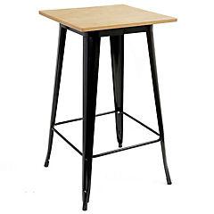 Mesa tipo bar tolix 60x60 cm madera