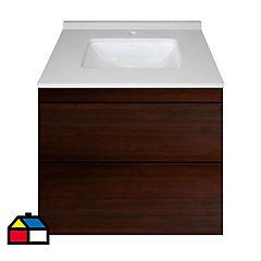 Mueble vanitorio cubierta cuarzo 60x50x45 cm