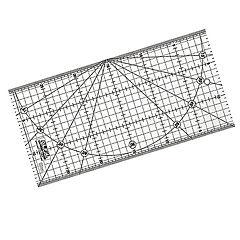Regla Acrílica Transparente de 15 x 30cm
