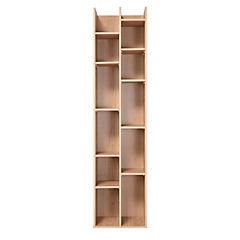Librero 10 repisas 180x44x30 cm olmo
