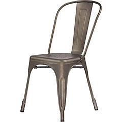 Silla metal 39x36x86 cm rústica