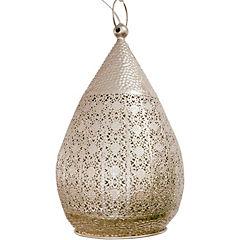 Lámpara de colgar Melilla 250 cm 60W E27 plateado