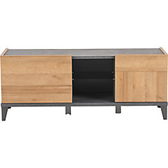 Rack TV 45x140x55 cm gris/oak