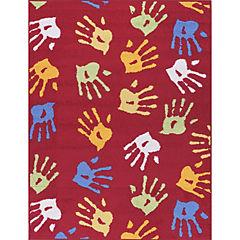 Alfombra katrina manos 80x120 cm rojo