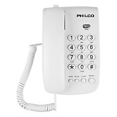 Teléfonos números grandes blanco