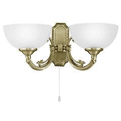 Apliqué Savoy 2 luces 40W E14 bronce