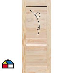 Puerta pino 80x200 cm