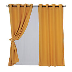 Set cortina rústica 140x220 cm atacama amarillo