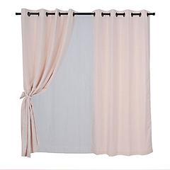 Set cortina rústica 140x220 cm tarapaca taupé