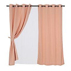 Set cortina rústica 140x220 cm tarapaca ecru
