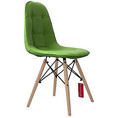 Pack de 2 sillas eames capitoné york verde