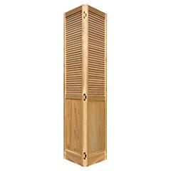 Puerta closet pino celosías 76x200 cm
