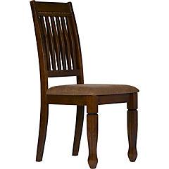 Set de 2 sillas 49,5x56x95,5 cm tabaco