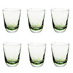 Set Vasos de Vidrio  6 Unidades Verde