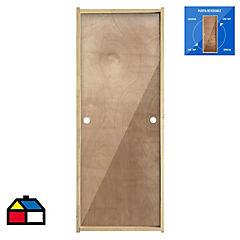 Puerta Terciado Precolgada Dual  60X200 cm
