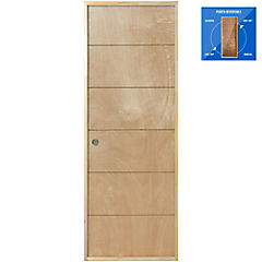 Puerta Huilo Precolgada Dual 80x200 cm