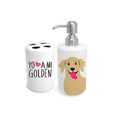 Set de baño golden retriever