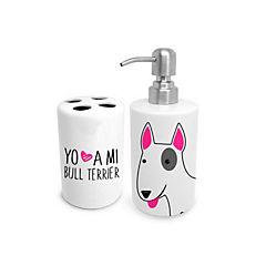 Set de baño bull terrier