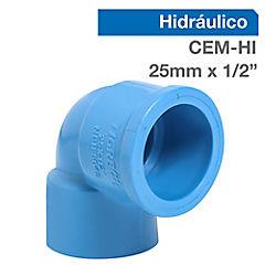 Codo PVC para cementar 25mmx1/2