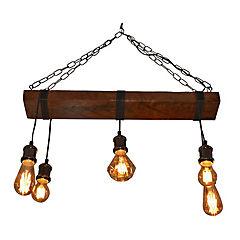 Lámpara de colgar Madera Roble