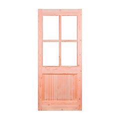 Puerta pino oregón vetro 80x200 cm
