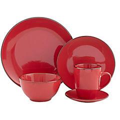 Juego de vajilla 30 piezas rojo