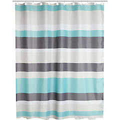 Set 14 piezas cortina de baño líneas