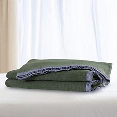 Frazada 100% lana florencia 1.5 plazas verde