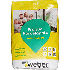 Frague porcelanato blanco 1 kg