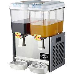 Dispensador de jugos 2 depósitos 18 litros inox