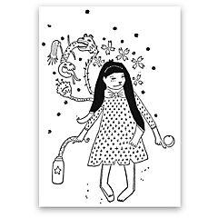 Grabado Stared artista Paloma Maturana 35x50 cm