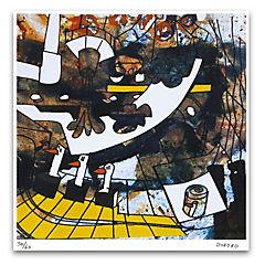 Grabado Fábrica de Paté de Patos artista Bororo 50x70 cm