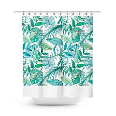 Cortina de baño botánica