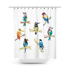Cortina de baño pájaros