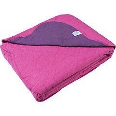 Cobertor quilt fucsia/morado 2 plazas