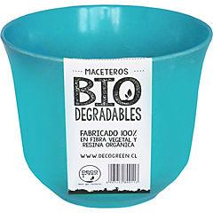 Macetero redondo de fibras naturales 16,5x16,5x13,0 cm Turquesa