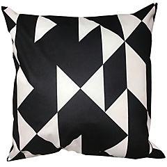 Cojín triángulos blanco y negro felpa